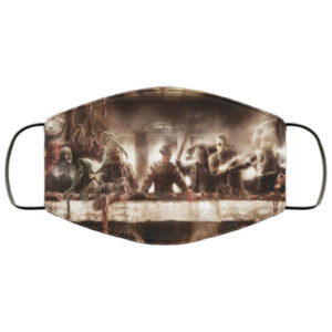 Horror Icons Last Supper Face Mask