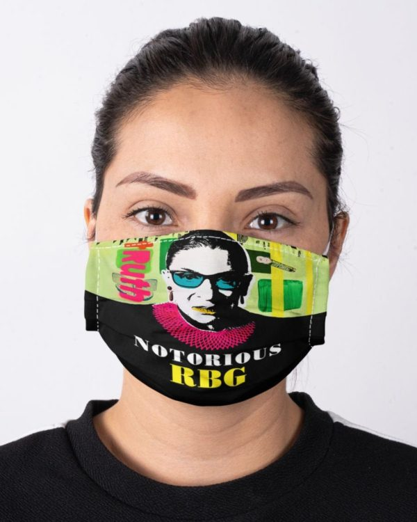 Ruth Bader Ginsburg Face Mask RBG Notorious Truth Feminism Equality Face Mask