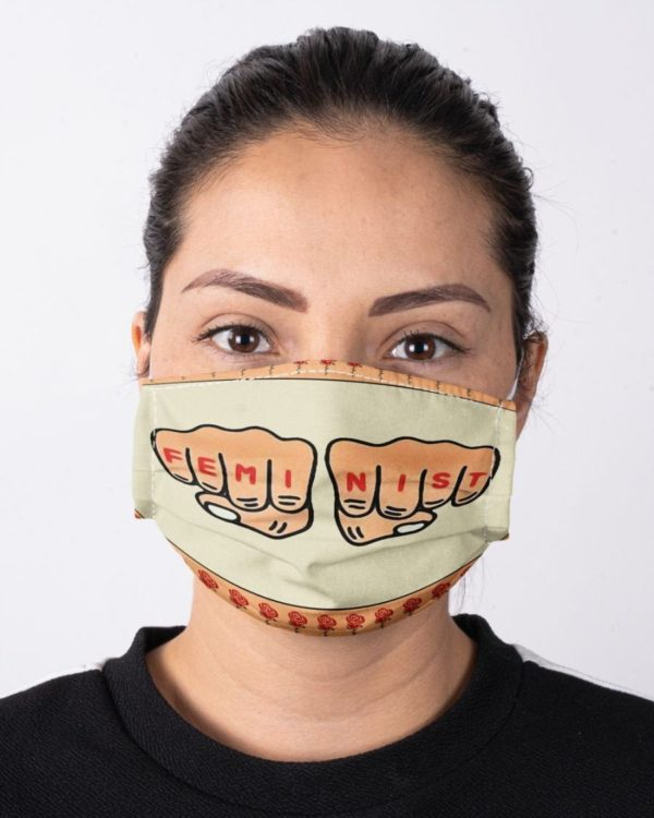 Feminist Fight Hands Equality Face Mask