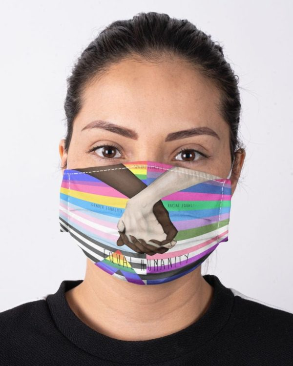 LGBT Rainbow Pride Equal Humanity Black And White You And Me Face Mask