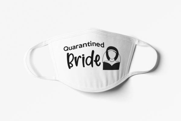 Quarantine Bride and Groom Face Mask