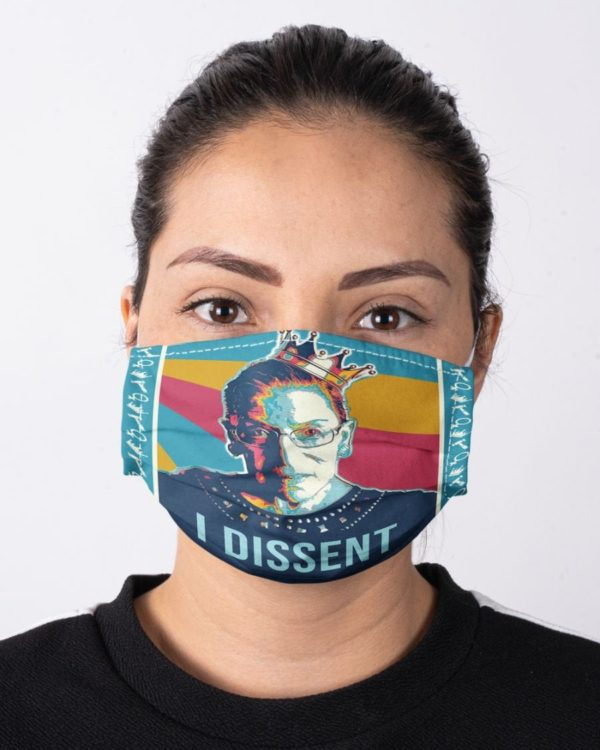 Ruth Bader Ginsburg Fight for the Things You Care About Equality Face Mask