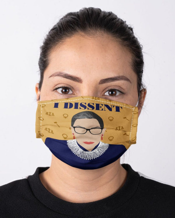 Ruth Bader Ginsburg Face Mask RBG Notorious Feminism Fight for the Things You Care About Equality Face Mask