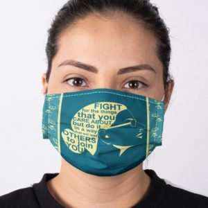 RBG Notorious Ruth Bader Ginsburg Feminism Fight For The Things You Care About Equality Face Mask
