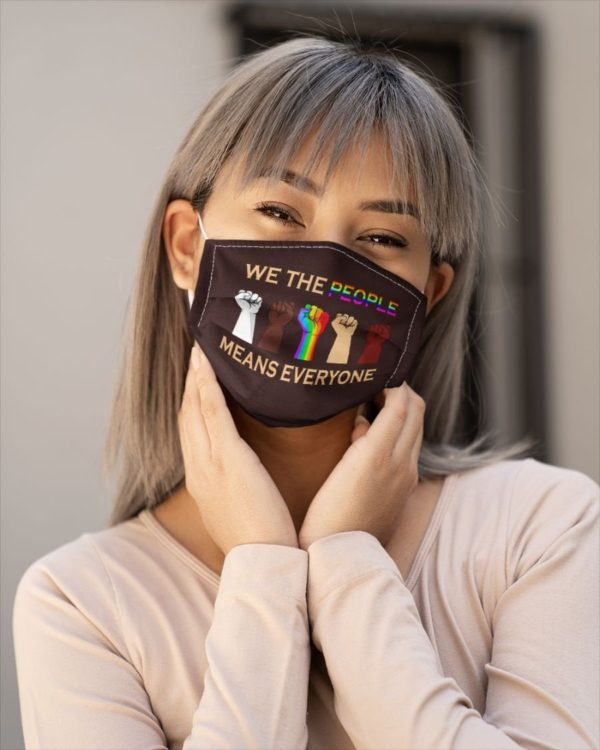 Black Lives Matter We The People Means Everyone Face Mask