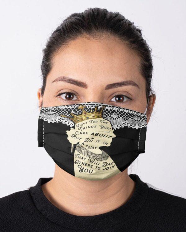 Ruth Bader Ginsburg Feminism Not Fragile Like a Flower Fragile Face Mask