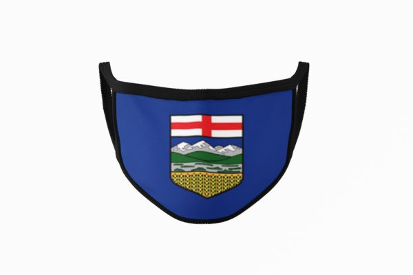 Alberta Flag Mouth Face Mask