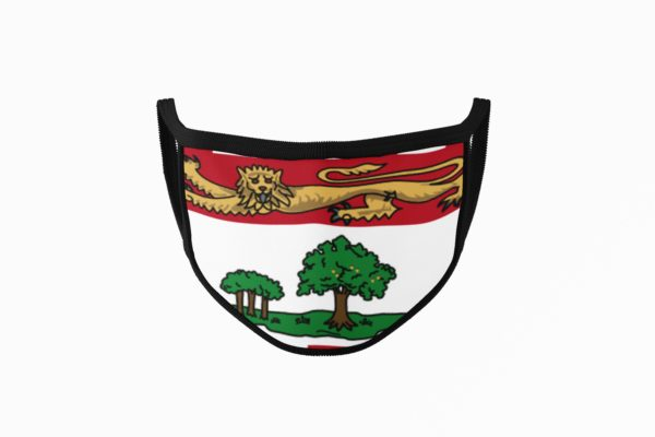 PEI Flag Mouth Face Mask