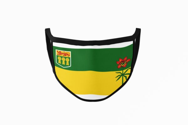 Saskatchewan Flag Mouth Face Mask