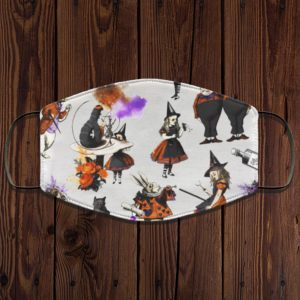 Alice In Wonderland Halloween Pattern Face Mask