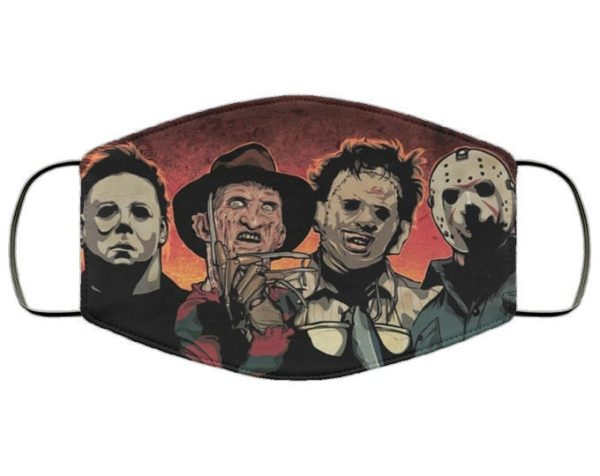 Horror Movie Icons Face Mask