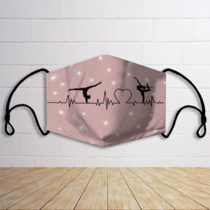 Ballet couple heart rate face mask