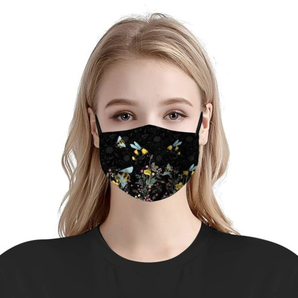 Bee pattern face mask