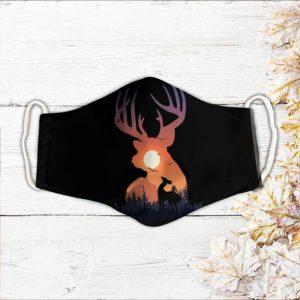 Hunting deer memories face mask