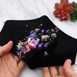 lephant Dandelion Colorful Beauty face mask
