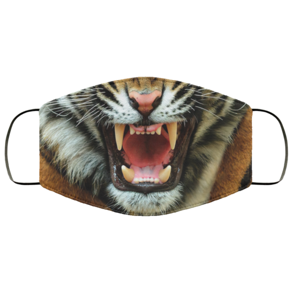 Growling Tiger Angry Tiger Face Mask