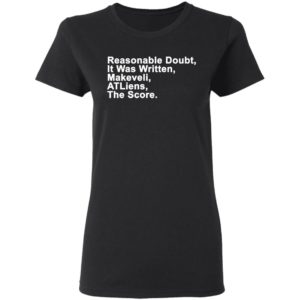 Reasonable Doubt, It Was Written, Makeveli, ATLiens, The Score Shirt