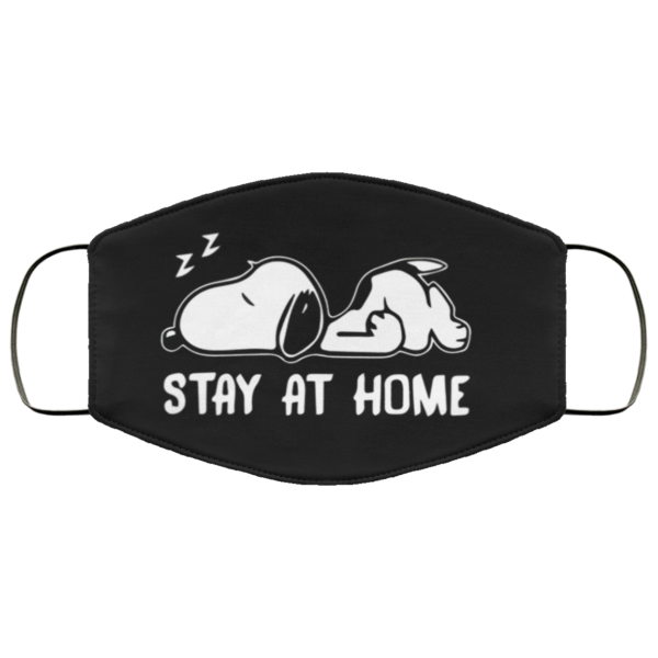 Snoopy Stay at home Face Mask