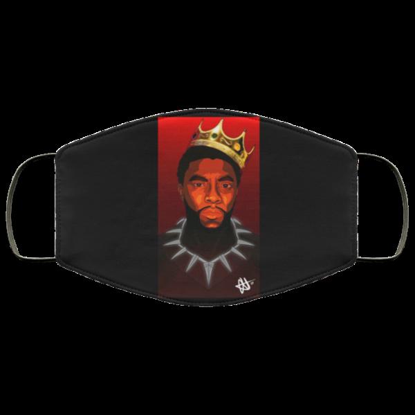 RIP King of Wakanda Black Panther Face Mask