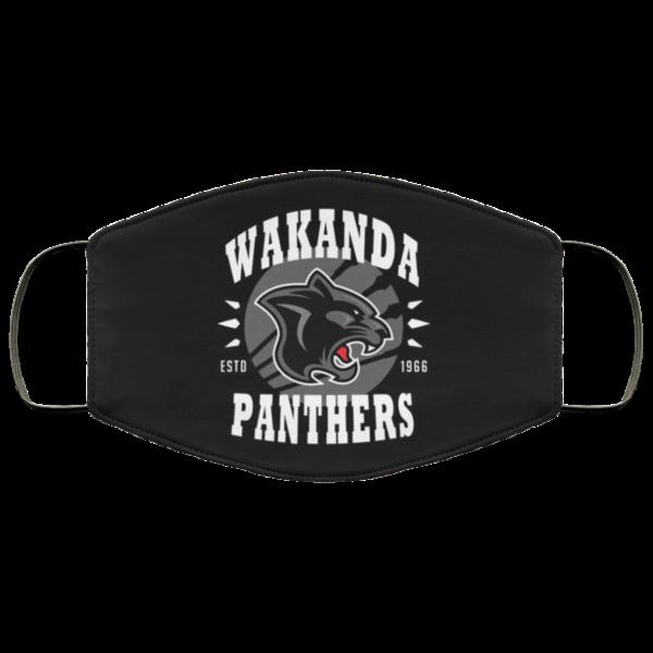 Wakanda Panthers face mask washable reusable