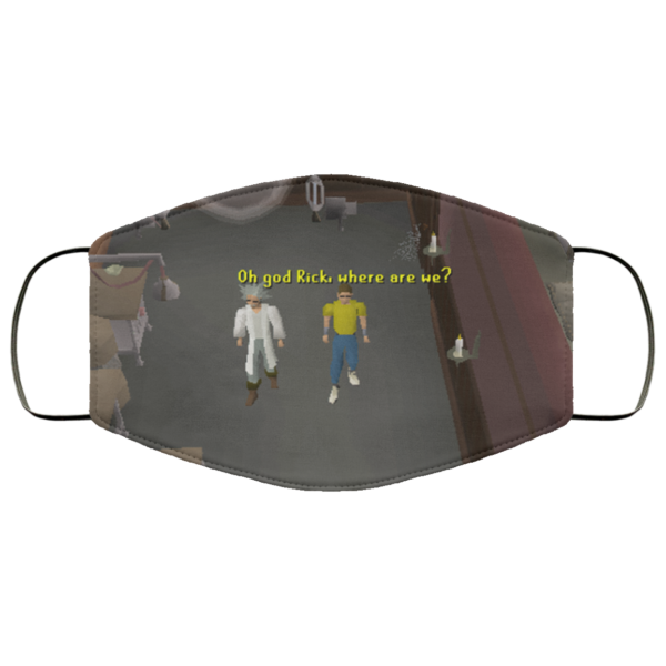 Runescape Rick and Morty Face Mask