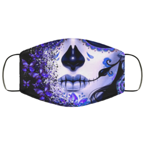 Butterfly Skull tattoos Cloth Face Mask Reusable