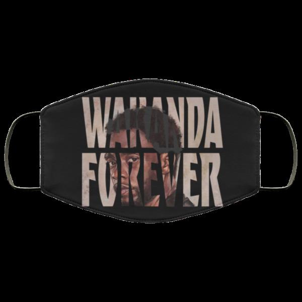 RIP Chadwick Boseman Wakanda Forever face mask