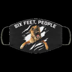 Six Feet People Funny German Shepherd Face Mask