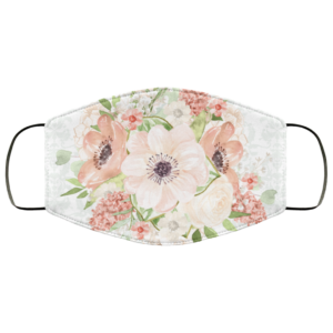 Beauty Summer Flowers Face Mask Washable Reusable