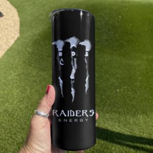 Raiders Monster Energy Skinny Tumbler 20oz 30oz