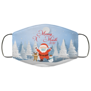 Merry X-Mask 2020 Funny Santa Claus Wearing Mask Face Mask