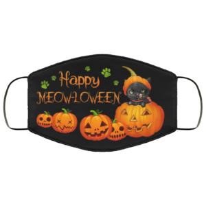 Happy Meow-lloween Funny Halloween Face Mask