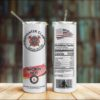 Firefighter Claw Heroic Seltzer Skinny Tumbler 20oz 30oz