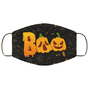 Halloween Boo Scary Pumpkin Face Mask