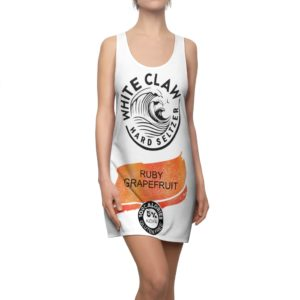 Ruby Grapefruit White Claw Glitter Costume Dress