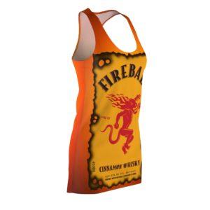 Fireball Canadian Whisky Bottle Racerback Dress