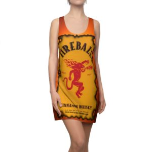 Fireball Canadian Whisky Bottle Racerback Dress