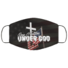 American Flag Cross One Nation Under God Face Mask