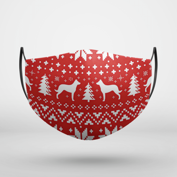 Beauceron Dog Ugly Christmas Face Mask