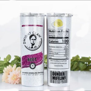 Dwight Claw Schrute Farms Seltzer Skinny Tumbler 20oz 30oz