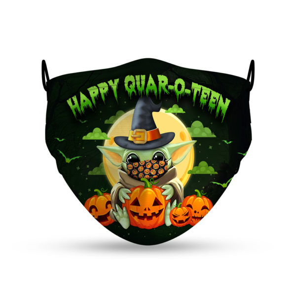 Happy Quar-o-teen Halloween Witch Face Mask