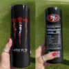 49ers Monster Energy Skinny Tumbler 20oz 30oz