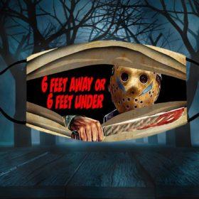 Jason 6ft Away or 6ft Under Halloween Face Mask