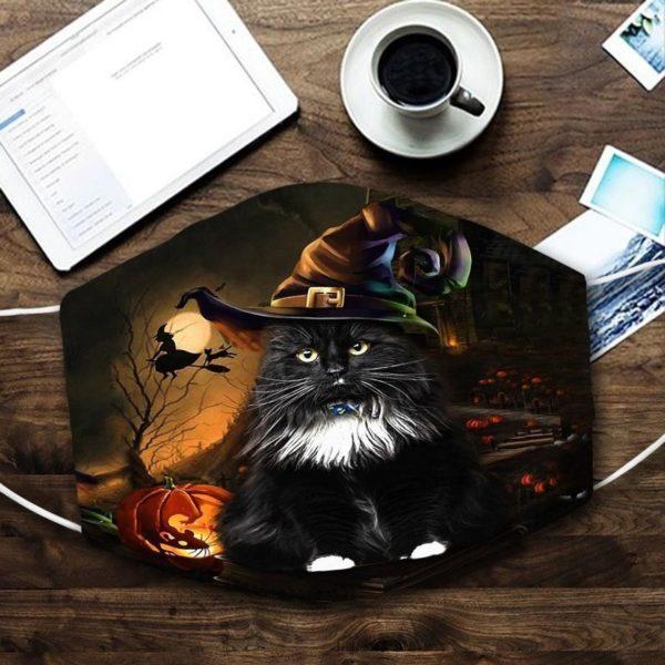 Black Cat Halloween 2020 Face Mask