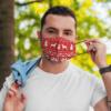 German Pinscher Ugly Christmas Sweater Pattern Face Mask