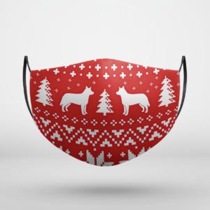 Australian Cattle Dog Ugly Christmas Face Mask