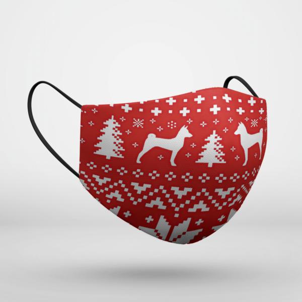 Basenji Dog Ugly Christmas Face Mask