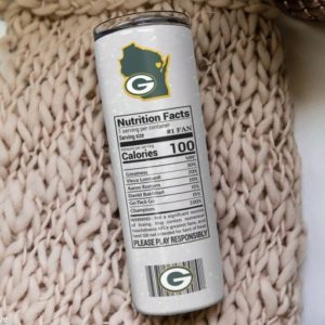 Green Bay Packer Champion Claw Skinny Tumbler 20oz 30oz