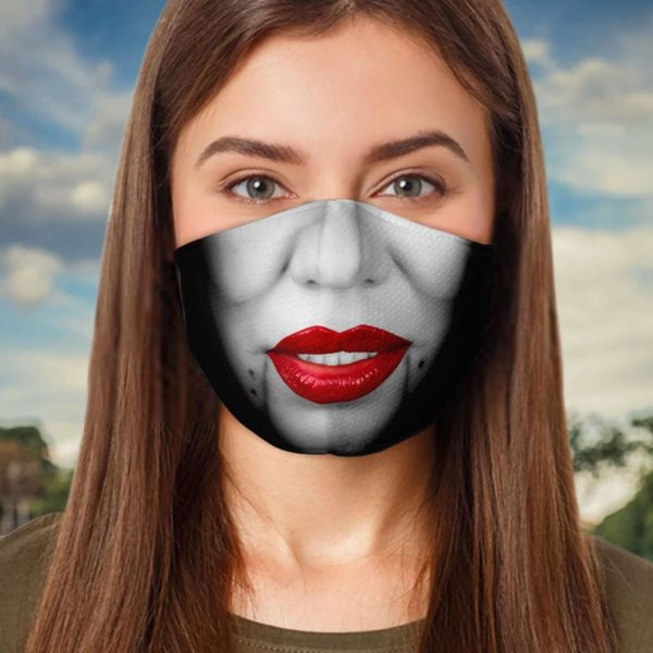 Creepy Lady Halloween Face Mask