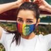 Ruth Bader Ginsburg Rainbow Face Mask